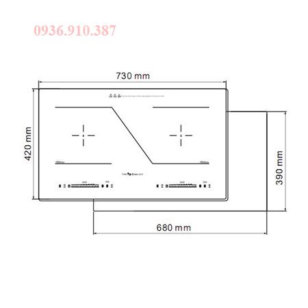 Kích thước bếp từ Fandi 223I